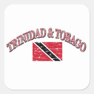 Trinidad and Tobago football design Square Sticker
