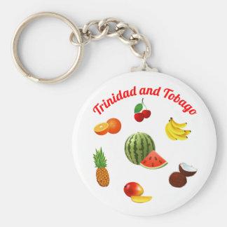 Trinidad and Tobago Fruits Keychain