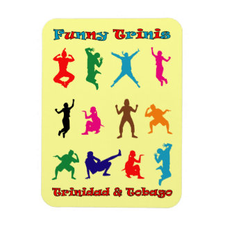 Trinidad and Tobago Funny Trinis Rectangular Photo Magnet