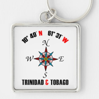 Trinidad and Tobago Geographic Keychain