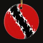 Trinidad and Tobago Gnarly Flag Ceramic Ornament