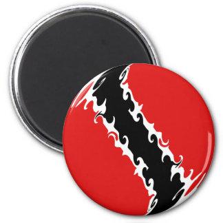Trinidad and Tobago Gnarly Flag Fridge Magnets