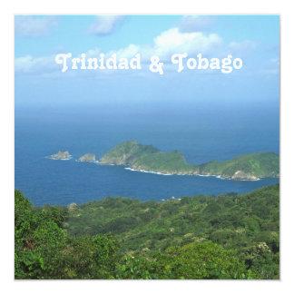 Trinidad and Tobago 5.25x5.25 Square Paper Invitation Card