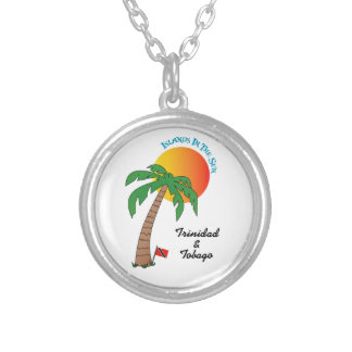 Trinidad and Tobago Islands In The Sun Silver Plated Necklace
