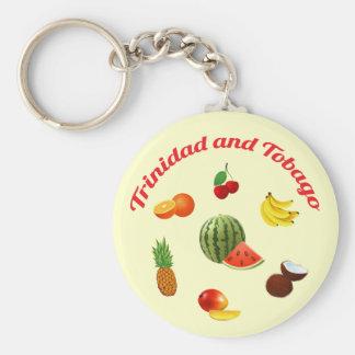 Trinidad and Tobago Juicy Fruits Keychain