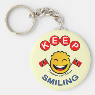 Trinidad and Tobago Keep Smiling Smiley Keychain