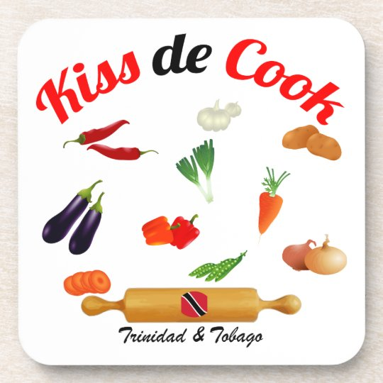 Trinidad and Tobago Kiss The Cook Food Coaster