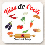Trinidad and Tobago Kiss The Cook Food Drink Coaster