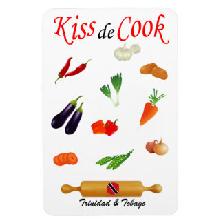 Trinidad and Tobago Kiss The Cook Food Rectangular Photo Magnet