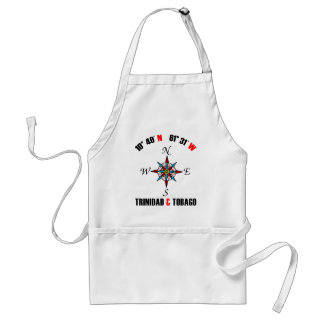 Trinidad and Tobago Longitude and Latitude Adult Apron