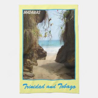 Trinidad and Tobago Madamas Beach Kitchen Towels