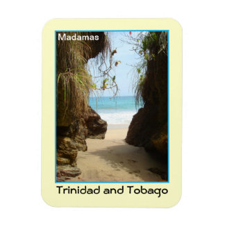 Trinidad and Tobago Madamas Beach Rectangular Photo Magnet