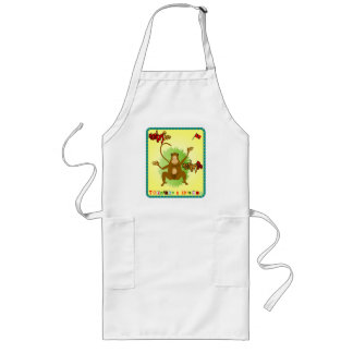 Trinidad and Tobago Monkey See Monkey Do Long Apron