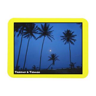 Trinidad and Tobago Nightfall At Manzanilla Beach Rectangular Photo Magnet
