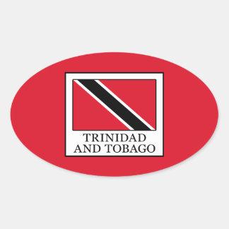 Trinidad and Tobago Oval Sticker