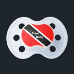 """Trinidad and Tobago Pacifier<br><div class=""""desc"""">This product from the Trini Stuff store features the red, white and black national flag of Trinidad &amp; Tobago. Also visit our stores homepage to see other cool and exciting Trini pictures and graphics created just for you! The Trinidad &amp; Tobago flag was selected to be used as the National...</div>"""
