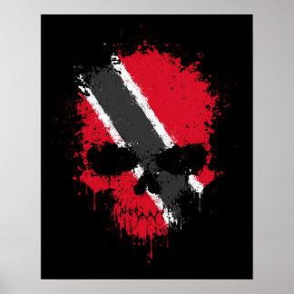 Trinidad and Tobago que gotean el cráneo de la sal Poster