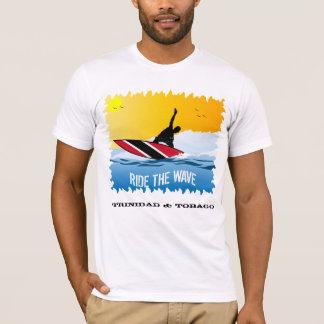 Trinidad and Tobago Ride The Wave Surfer T-Shirt