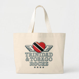 Trinidad and Tobago Rocks v2 Jumbo Tote Bag