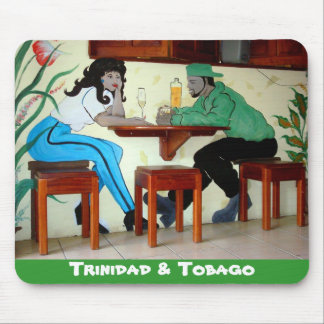 Trinidad and Tobago Rum Shop Mural Mouse Pad