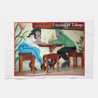 Trinidad and Tobago Rum Shop Picture Hand Towel