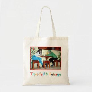 Trinidad and Tobago Rum Shop Scene Tote Bag