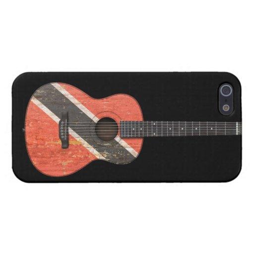 Trinidad and Tobago señalan la guitarra acústica p iPhone 5 Funda