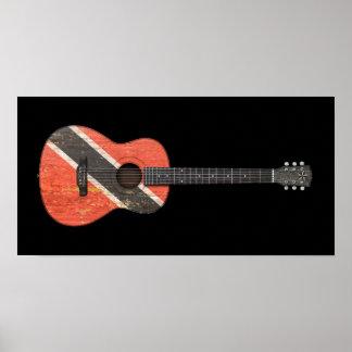 Trinidad and Tobago señalan la guitarra acústica p Posters