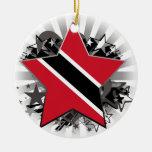 Trinidad and Tobago Star Christmas Tree Ornament