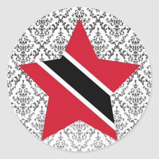 Trinidad+and+Tobago Star Classic Round Sticker