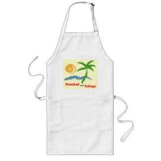 Trinidad and Tobago Sun Sea And Coconut Tree Long Apron