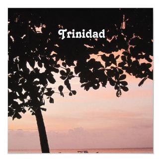 Trinidad and Tobago Sunset 5.25x5.25 Square Paper Invitation Card
