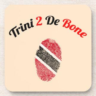 Trinidad and Tobago Trini 2 De Bone Beverage Coasters