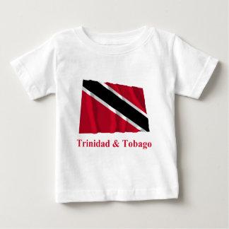 Trinidad and Tobago Waving Flag with Name Baby T-Shirt