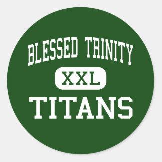 Trinidad bendecida - titanes - católico - Roswell Pegatina