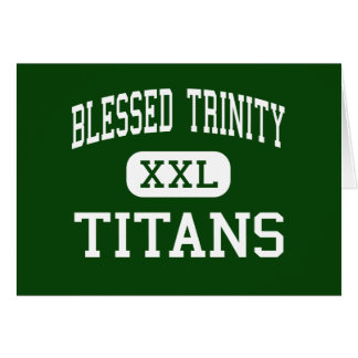 Trinidad bendecida - titanes - católico - Roswell Tarjetas