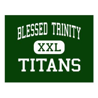 Trinidad bendecida - titanes - católico - Roswell Tarjeta Postal