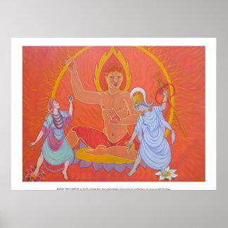 Trinidad budista, clase de posters