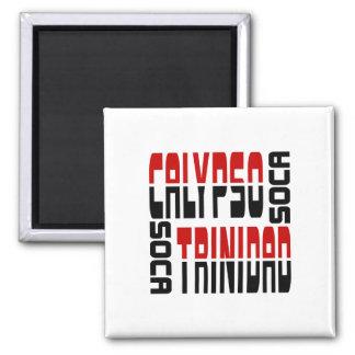 Trinidad Calypso Soca Cube 2 Inch Square Magnet