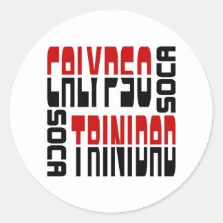 Trinidad Calypso Soca Cube Classic Round Sticker