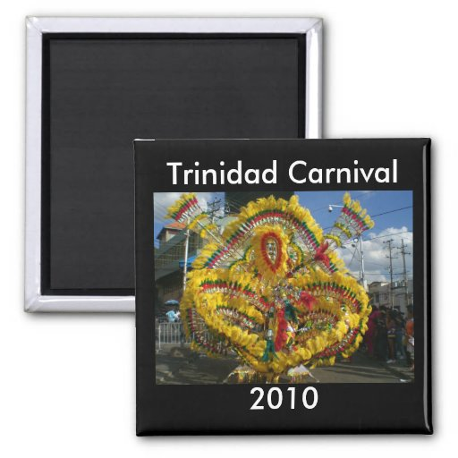 Trinidad Carnival 2010 2 Inch Square Magnet