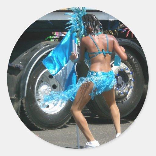 Trinidad Carnival Classic Round Sticker
