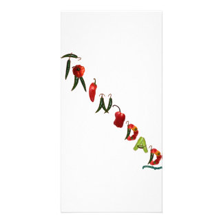 Trinidad Chili Peppers Customized Photo Card
