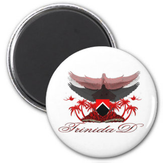 Trinidad coat of arms 2 inch round magnet