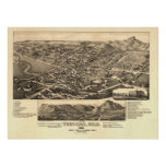 Trinidad Colorado 1882 Antique Panoramic Map Poster
