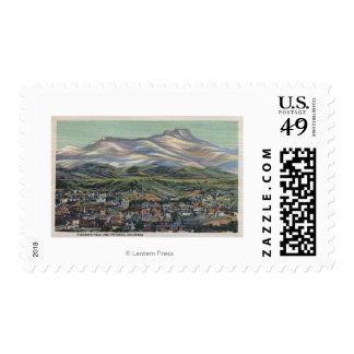 Trinidad, Colorado - Fisher's Peak and City Stamp