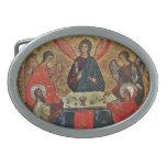 Trinidad con los santos hebillas cinturón ovales