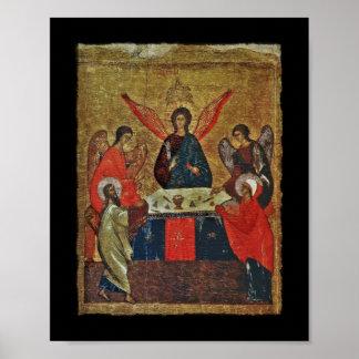 Trinidad con los santos impresiones