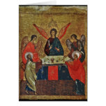 Trinidad con los santos tarjeta de felicitación