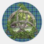 Trinidad del Celtic del tartán de Keith del clan Pegatinas Redondas